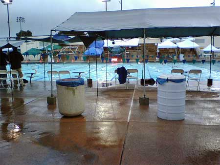 Wet, wet pool area