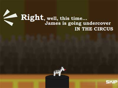 Screenshot of James the Zebra game