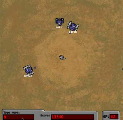 Screenshot of Word Shoot game